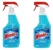Windex Cleaners, Blue, 770ml 2 Count by Windex