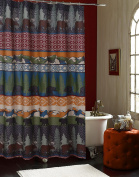 Barefoot Bungalow GL-1608ESHW Black Bear Lodge Bath/Shower Curtain