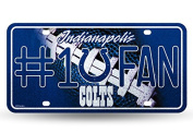 NFL Bling #1 Fan Metal Auto Tag