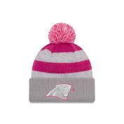 Women's New Era Grey 2016 Breast Cancer Awareness Sideline Cuffed Pom Knit Hat