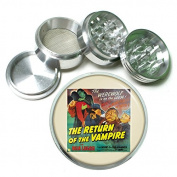"""63mm 2.5"""" 4Pc Aluminium Sifter Magnetic Grinder D-097 The Werewolf is on the Loose The Return of the Vampire"""
