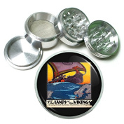 """63mm 2.5"""" 4Pc Aluminium Sifter Magnetic Grinder D-220 See the Lands of the Vikings"""