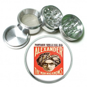 """63mm 2.5"""" 4Pc Aluminium Sifter Magnetic Grinder D-194 Pantages Alexander The Man Who Knows"""