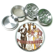 """63mm 2.5"""" 4Pc Aluminium Sifter Magnetic Grinder D-185 Performance Chicago Lodge No 4"""