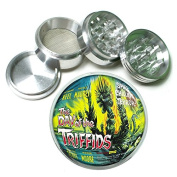 """63mm 2.5"""" 4Pc Aluminium Sifter Magnetic Grinder D-179 The Day of the Triffids"""