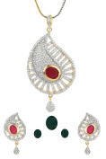 Dilan Jewels HAPPINESS Collection Changeable Colour Stone Imitation Pendant Set For Women