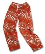 Zubaz San Francisco Team Colour Zebra Pants, Red Metallic Gold