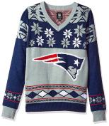 "New England Patriots Women's NFL ""Big Logo"" Ugly V-Neck Sweater"