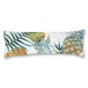 Ailovyo Pineapple Machine Washable Silky Shiny Satin Decorative Body Pillow Case Cover, 50cm x 140cm