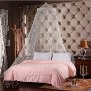 GBSELL White Lace 1.5 Bed Canopy Mosquito Nets