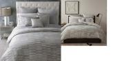 Oake Treviso Brushstroke Grey 100% Linen KING Pillow Sham