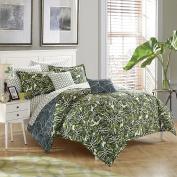 stylehouse WK681522 Palm Leaf Bed in A Bag Comforter Set & Bonus Dec Pillows,Palm Leaf,Full