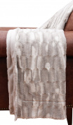 Thro by Marlo Lorenz TH010125002 Faux Fur Throw Blanket, Silver