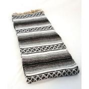 #11 Black Hogan Classic Mexico Yoga Meditation Work Out Blanket Mat Throw Falsa