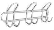 Internet's Best Double Wire Hook Rack | 3 Hooks | Stainless Steel Coat and Hat Rack | Wall Mounted | Bathroom Towel Rail | Outdoor or Indoor