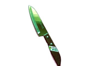 No503. QUALITY KNIVES THAI KIWI BRAND WOOD HANDLE KITCHEN TOOL BLADE 10cm STAINLESS NEW