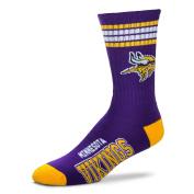 NFL 4 Stripe Deuce Crew Socks Mens