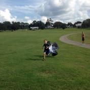 100cm Speed Running Power Chute Speed Training Resistance Exercise Parachute Black