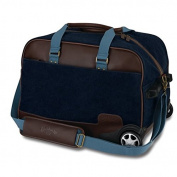 Callaway Golf Tour Authentic Rolling Bag Navy/Brown Luggage