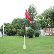TTnight Backyard 3 Section Practise Golf Hole Pole Cup Flag Stick Putting Green Flagstick Golf taining Flagstick