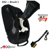 A99 Golf S02 shoes bag Mesh LIGHT WEIGHT BLACK ventilate + Two-side Golf brush