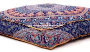 Handicraft-Palace Large Indian Meditation Floor Pillow Cover 90cm X 90cm Inch Elephant Mandala Ottoman Cushion Dog Bed Outdoor Sofa Day Bed Kids Teen Floor Pillow