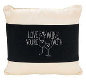 "Jozie B 508180cm Love The Wine You're with"" Cotton Canvas Reversible Pillow Jacket"