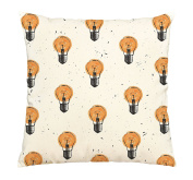 Light Bulbs Printed Cotton Decorative Pillows Cover Cushion Case VPLC_03