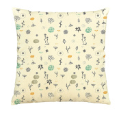 Floral Decoration Printed Cotton Decorative Pillows Cover Cushion Case VPLC_03
