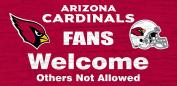 NFL 30cm x 15cm Fans Welcome Wood Sign