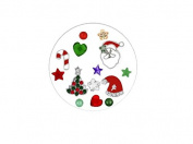 Holiday Floating Locket Charms and Birthstones