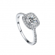 Ularmo 2015 Womens Shinning Big Square Stone Finger Wedding Engagement Ring