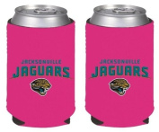 NFL Football Womens Hot Pink Can Kaddy Collapsible Koozie Holder 2-Pack - Pick Team!