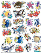 88 FINDING NEMO Sparkle Stickers - DORY Disney SHARKS Starfish SEA LIFE Prism Teacher Motivational Rewards EDUCATION Classroom Party Favours
