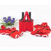 Red Nylon Santa Pants Candy Bags For Christmas Gift