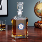 US Navy Crested Whiskey Decanter