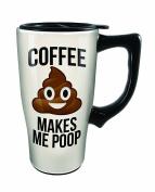 Spoontiques Coffee Makes Me Poop Travel Mug, White
