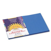 Construction Paper, 26kg., 12 x 18, Bright Blue, 50 Sheets/Pack, Sold as 50 Sheet