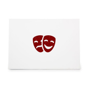 Theatre Theatre Masks Drama Comedy Style 4568, Rubber Stamp Shape great for Scrapbooking, Crafts, Card Making, Ink Stamping Crafts