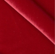 Velvet Stretch RED Fabric / 150cm Wide / Sold By The Yard