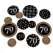 Adult 70th Birthday - Gold - Birthday Party Table Confetti Set - 27 Count