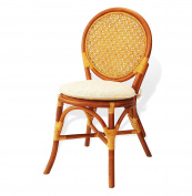 Denver Dining Armless Accent Wicker Side Chair Handmade Rattan Wicker Furniture Colonial