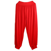 S/M/L/XL/XXL Yoga Pants Women Bloomers Dance Yoga TaiChi Full Length Pants Red/Black/White/Blue