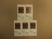 USPS Scott 2429a 25c 1989 Christmas Carracci 5 Books Of 20 100 Stamps 10 Panes