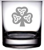 Irish Celtic Shamrock 370ml Old Fashion Scotch Whiskey Glass