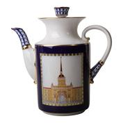 Lomonosov Imperial Porcelain Coffee Pot Classics of Petersburg 37 oz/1090 ml