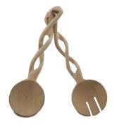 Carved Hardwood Spoon Server Set - Kitchen Serving Utensils