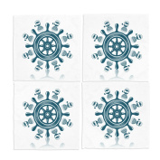 Ye Store Design Custom 4 Pieces Navy Helmsman Cloth Napkins 12x12x4