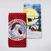 St. Nicholas Square Christmas Traditions Merry Christmas North Pole Kitchen Towel 2-pk