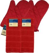 Red Kitchen Linen Set